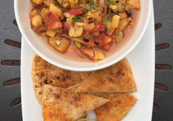 One Lincoln Recipes – Grilled Heirloom Tomato & Peach Salsa